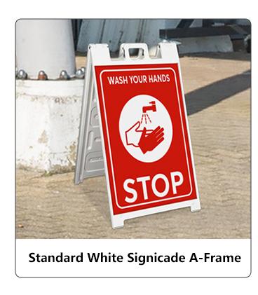 Standard White Signicade A-Frame