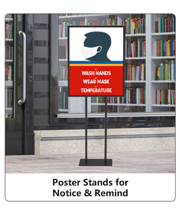 Poster Stands for Notice & Remind