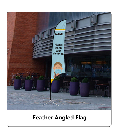 Feather Angled Flag
